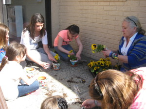 Planting Flowers at Arts Healing Hearts
